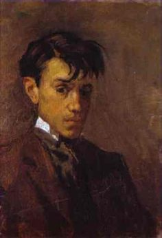 Picasso Self Portrait 1896, with an interesting text about who he was: http://www.sapergalleries.com/PicassoWhoWasPabloPicasso.html
