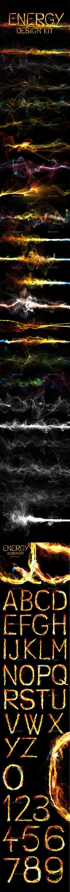 Energy Design Kit  #abstract #backgrounds #design • Click here to download ! http://graphicriver.net/item/energy-design-kit/15995144?ref=pxcr