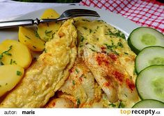 Filé z tresky zapečené v omeletě s pažitkou recept - TopRecepty.cz