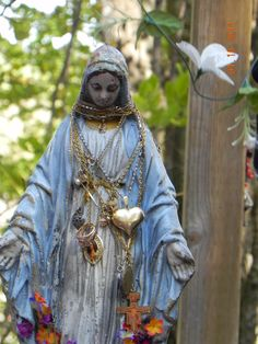 Number of Miracles have taken place by this image of 'Our Lady's burned statue'