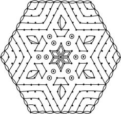 Star and Deepam Kolam Kolam Dot Patterns : Start with 17 dots Decrease on both sides with intermediate dots ending at 9 dots. This is best for rangoli competitions and on auspicious days. Related posts: Star Vilakku Kolam, Deepam Rangoli Deepam Kolam – Best for Karthigai Deepam Diya Rangoli, Deepam …