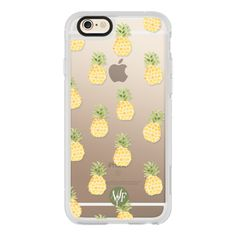 iPhone 6 Plus/6/5/5s/5c Case - Pineapple Express Clear Case by Wonder... ($40) ❤ liked on Polyvore featuring accessories and tech accessories