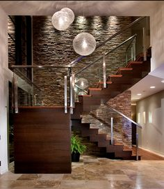 Stunning be cool if it was your basement stairs and a fireplace was on the other side for living room lol