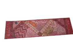 Home Decor Beaded Wall Hanging Sari Tapestry Hanging Table Runner 80 X 22 Inch: Home & Kitchen $89.00