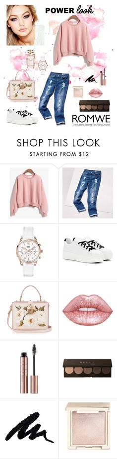 """""""Power Pink"""" by tainted-scars ❤ liked on Polyvore featuring Tommy Hilfiger, Maybelline, Henry London, Kenzo, Dolce&Gabbana, Lime Crime, Jouer and Elie Saab"""