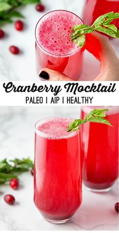 This sparkling cranberry mocktail is a non-alcoholic seasonal drink that everyone will love! It's paleo, AIP, and kid-friendly. This sparkling cranberry mocktail is a non-alcoholic seasonal drink that everyone will love! It's paleo, AIP, and kid-friendly. Low Carb Cocktails, Non Alcoholic Cocktails, Drinks Alcohol Recipes, Cocktail Drinks, Thanksgiving Drinks Non Alcoholic, Non Alcoholic Drinks During Pregnancy, Cranberry Drink Recipes Non Alcoholic, Sparkling Drinks, Party Drinks