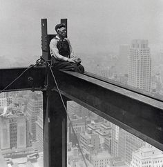 NYC. Skyscraper building worker, 1932.  (Little bit marginalized?) // by Charles Clyde Ebbets