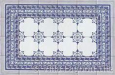 Delft tile kitchen backsplash design idea
