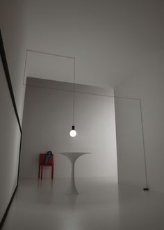 spazio - suspension led lamp with opal bulb #led #light #bulb