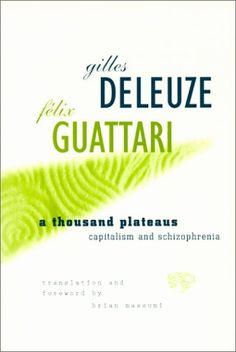 A Thousand Plateaus: Capitalism and Schizophrenia by Gilles Deleuze http://www.amazon.com/dp/0816614024/ref=cm_sw_r_pi_dp_DSAevb18KRWVS