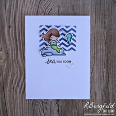 RBergfeld Card Designs: Chevron Mermaid - Lawn Fawn, Mermaid For You
