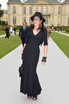 Mouna Ayoub attends the Christian Dior show as part of Paris Fashion Week - Haute Couture Fall/Winter 2014-2015 on July 7, 2014 in Paris, France.