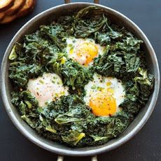 Spicy Simmered Eggs with Kale Recipe