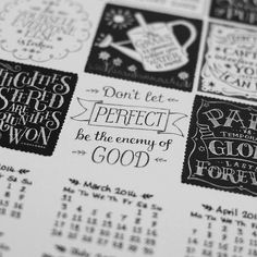 Hand lettered Calendar | Flickr - Photo Sharing!
