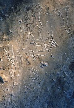 Engravings made between 13000 and 8000BC in the Addaura cave near Palermo.