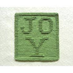 Green Christmas Dishcloth with JOY letters interwoven. Handmade by Aunt Susan. Ships same day or next day! Knitting Squares, Dishcloth Knitting Patterns, Knit Dishcloth, Hand Knitting, Crochet Squares, Knitted Washcloth Patterns, Knitted Washcloths, Green Christmas, Christmas Ideas