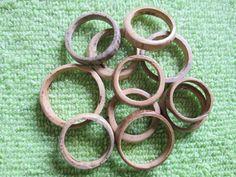 1 lotto: 10 anelli di noce di cocco style nr. 4 biologico stile giungla Brasile