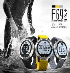 Hot sale F69 watch Sprots Smart Watch IP68 Fitness Tracker Bracelet Heart Rate Monitor Swimming Wristband for IOS Android Phone Digital Guru Shop