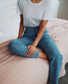 jeans & tee.