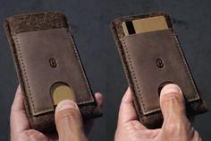 Samsung Galaxy S5  Wallet Sleeve / Case  Caramel Brown by Cocones, $37.00