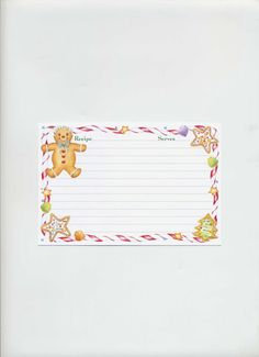 Christmas Gingerbread Man Recipe Cards 4 x 6 set of 15 on Etsy, $6.00