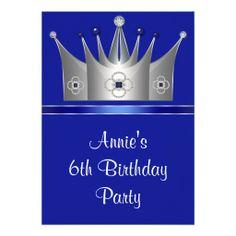 Princess Crown 6th Birthday Party Invitation