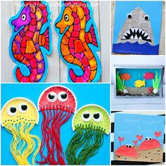 136 Best Ocean Crafts For Kids Images Art For Kids Activities For