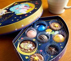 「水森亜土」チョコレート。(バレンタイン 限定)水森亜土 チョコレート スタームーンナイト 8個入り(のし・包装・メッセージカードのご利用はできかねます。)(チョコレート バレンタインデー 限定 義理チョコ ホワイトデー)【楽ギフ_ 【143】