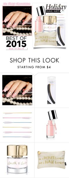 """""""#224 Best of 2015: Glitter Baby Pink Nails"""" by pinky-chocolatte ❤ liked on Polyvore featuring beauty, Miss Selfridge, Fletcher & Fox, Smith & Cult, Lipsy and White Label"""