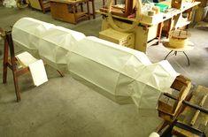 The making of an Akari Light Sculpture at the Ozeki Headquarters in Gifu, Japan.