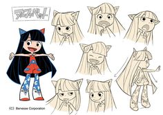 "gurihiru: "" The advertising Animation for the English teaching materials of the kids by Khara, Inc. I did these character designs. """