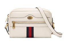 See the Gucci Mini Ophidia Mini Leather Crossbody Bag in White. Gucci Store, Gucci Gifts, Gucci Handbags, Gucci Bags, Big Bags, White Leather, Black Suede, Bag Making, Leather Crossbody Bag