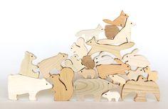 Japanese wooden animals