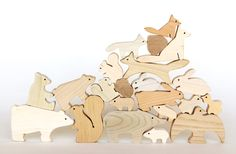Japanese wooden animals