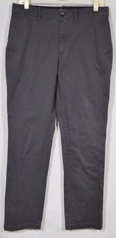 BANANA REPUBLIC Men's Dark Gray Aiden Chino Pant 32 Waist 32 Inseam Cotton Blend #BananaRepublic #KhakisChinos