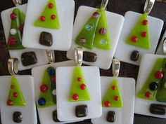 fused glass CHRISTMAS pendant