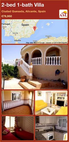 Bungalow for Sale in Stunning Views, Quesada, Alicante, Spain with 2 bedrooms, 1 bathroom - A Spanish Life Valencia, Portugal, Outside Patio, Bungalows For Sale, Low Maintenance Garden, Spanish House, Rooftop Terrace, Open Plan Living, Double Bedroom
