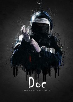 """Rainbow Six Siege Characters Doc #Displate artwork by artist """"TraXim"""". Part of a 33-piece set featuring artwork based on characters from the popular Rainbow Six video game. £37 / $49 per poster (Regular size), £74 / $98 per poster (Large size) #RainbowSix #RainbowSixSiege #TomClancy #TomClancysRainbowSix #Rainbow6 #Rainbow6Siege #TomClancysRainbow6 #Ubisoft"""