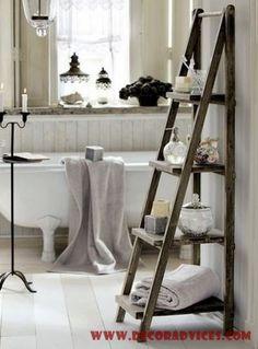 Simple DIY Bathroom Decorating Ideas - http://www.decoradvices.com/simple-diy-bathroom-decorating-ideas/