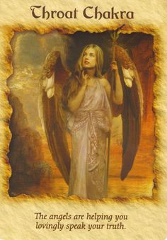 """Divine Spark: Throat Chakra ~ """"The angels are helping you lovingly speak your truth."""""""