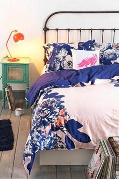 Plum & Bow Corner Floral Duvet Cover #urbanoutfitters #bedroom