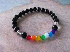 Black onyx chakra bracelet by Shynnasplace on Etsy, $17.50