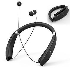 Wireless Bluetooth 4.1 Foldable Headsets GRDE Retractable Headphones Neckband Style Sports Earphones Earbuds with Microphone Compatible for Most Bluetooth Devices: Cell Phones & Accessories