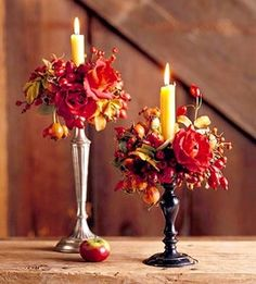 Fall candle rings - how to