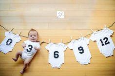 foto bebê aniversário mês