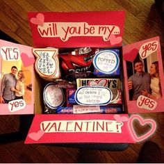 ideas diy gifts valentines day for him care packages for 2019 Ideen diy Geschenke Vale Valentines Day Gifts For Him Boyfriends, Cute Valentines Day Gifts, Valentine Crafts, Homemade Valentines Gifts For Him, Boyfriend Crafts, Diy Gifts For Boyfriend, Boyfriend Ideas, Boite Explosive, Valentines Day Care Package