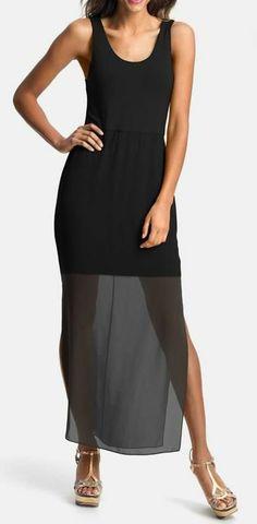 Tank Sheet Black Dress