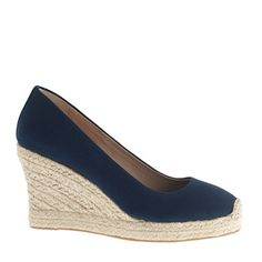 J Crew Seville wedge espadrilles - I have been looking for these exact shoes everywhere!