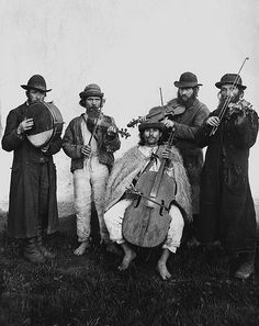Village orchestra of Ruthenian and Jewish musicians. Verecke, Bereg County, 1895