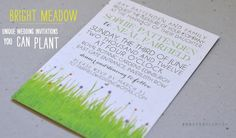 Bright Meadow on white seeded paper. Just perfect! #foreverfiances